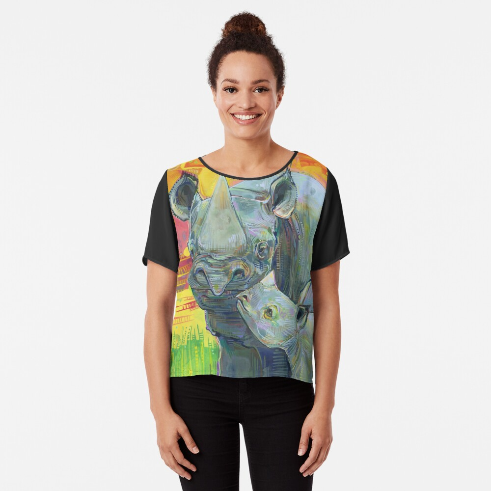Rhinoceros painting - 2012 Chiffon Top