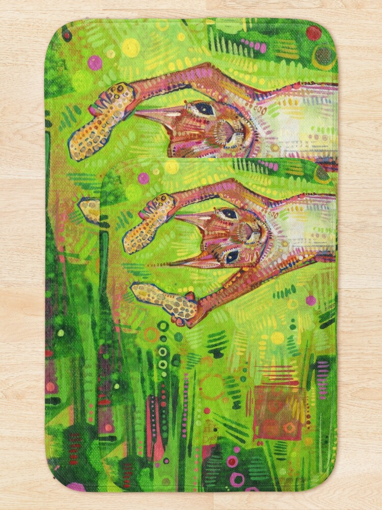 Alternate view of Nuts painting - 2014 Bath Mat