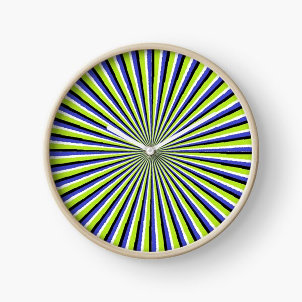 Optical #Art: Moving #Pattern #Illusion - #OpArt  Clock