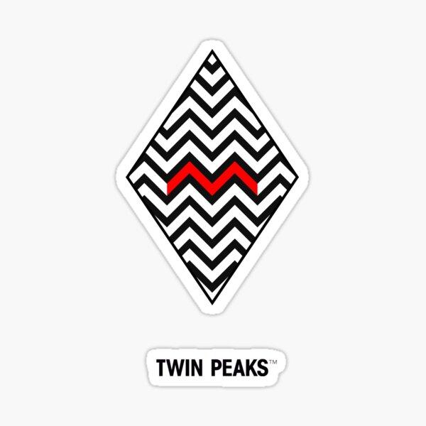 twin peaks. minimal. Sticker