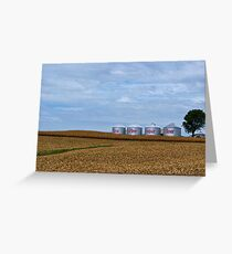 Grain Bins Greeting Card