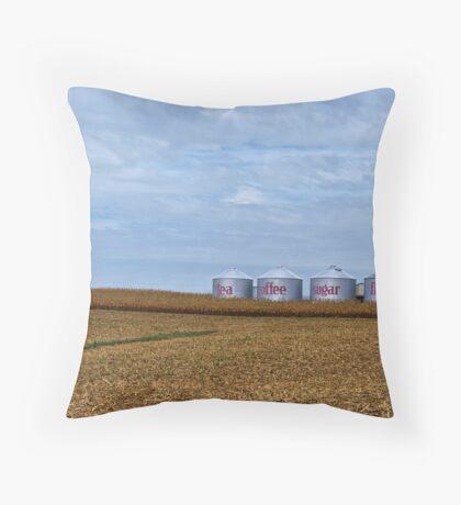 Grain Bins Throw Pillow