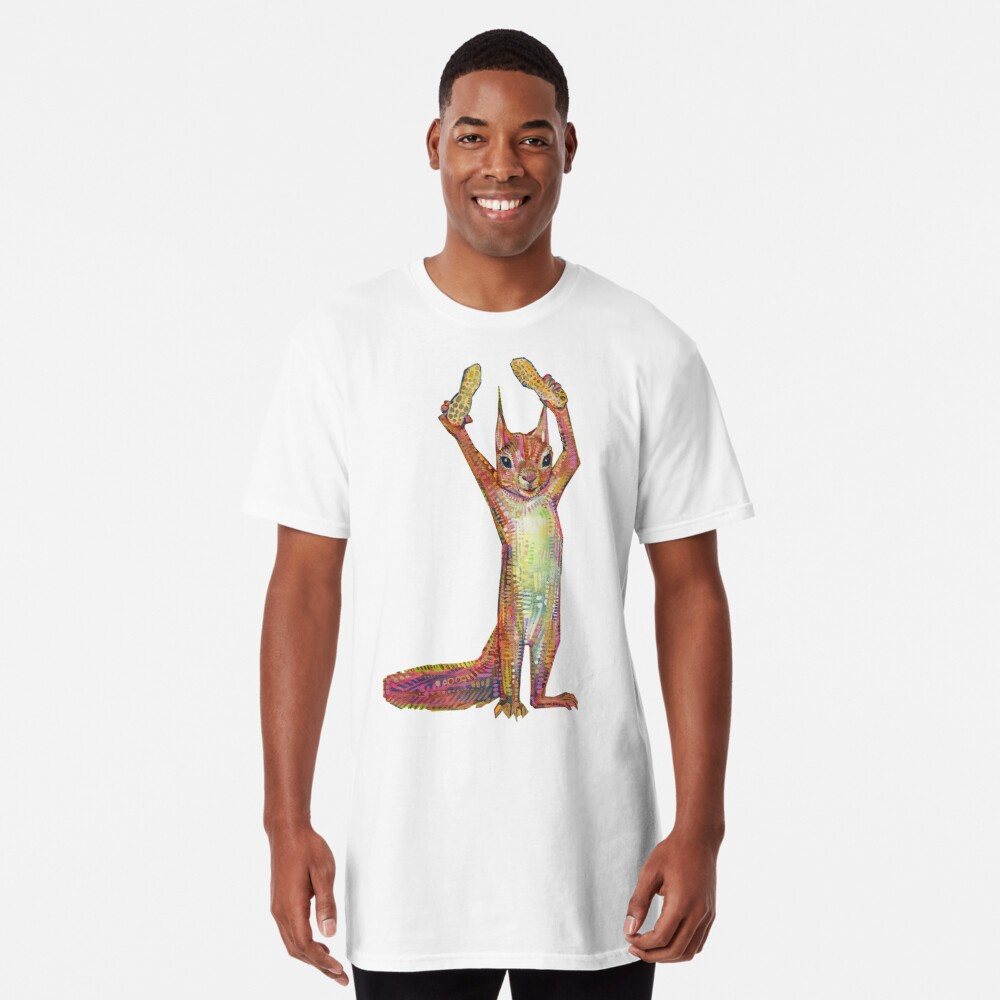 Nuts on blank background Long T-Shirt