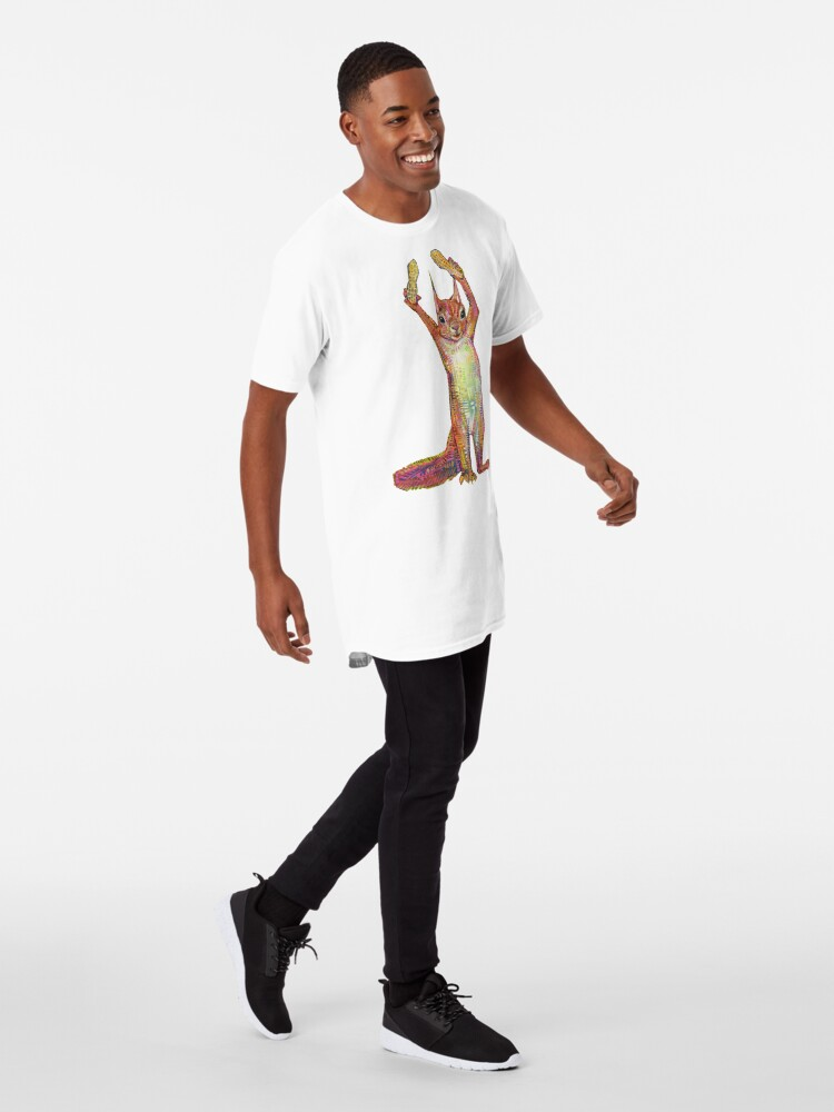 Alternate view of Nuts on blank background Long T-Shirt