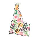 Idaho State | Blumenmuster mit Rosen von PraiseQuotes