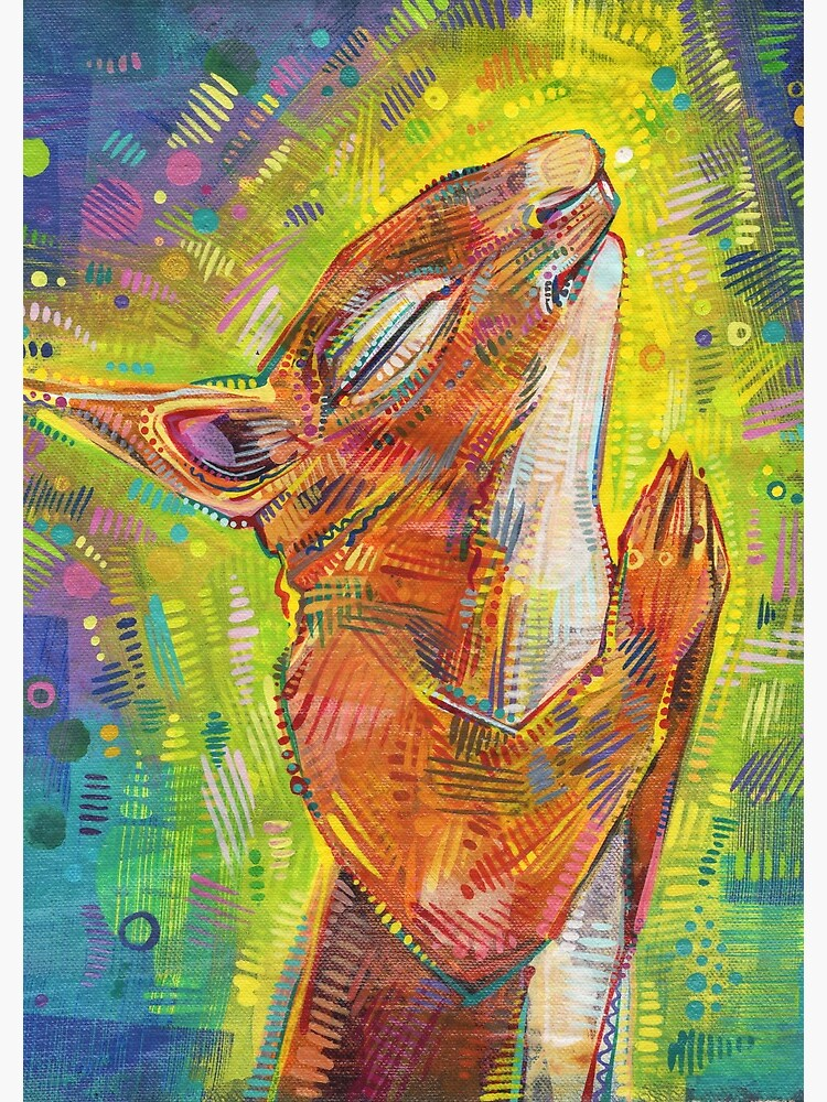 Praying squirrel painting - 2014 by gwennpaints