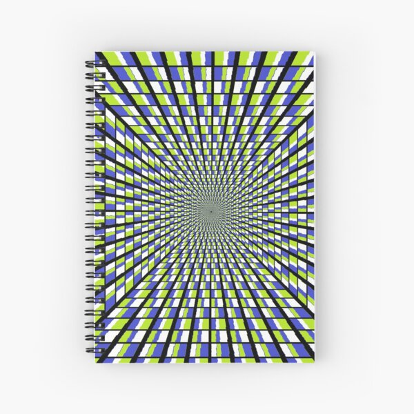 Optical #Art: Moving #Pattern #Illusion - #OpArt  Spiral Notebook