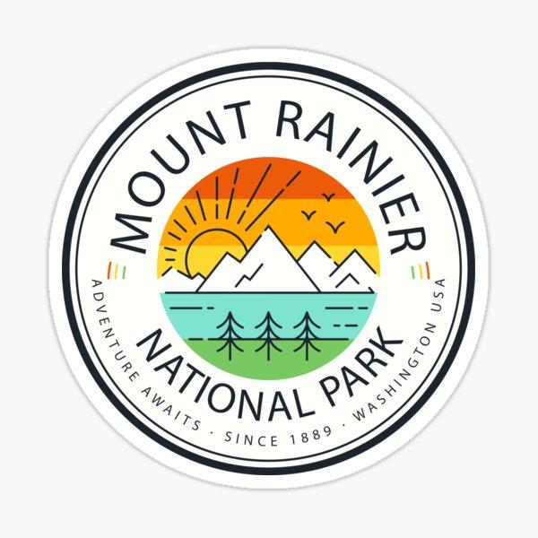 Mount Rainier National Park Sticker Sticker