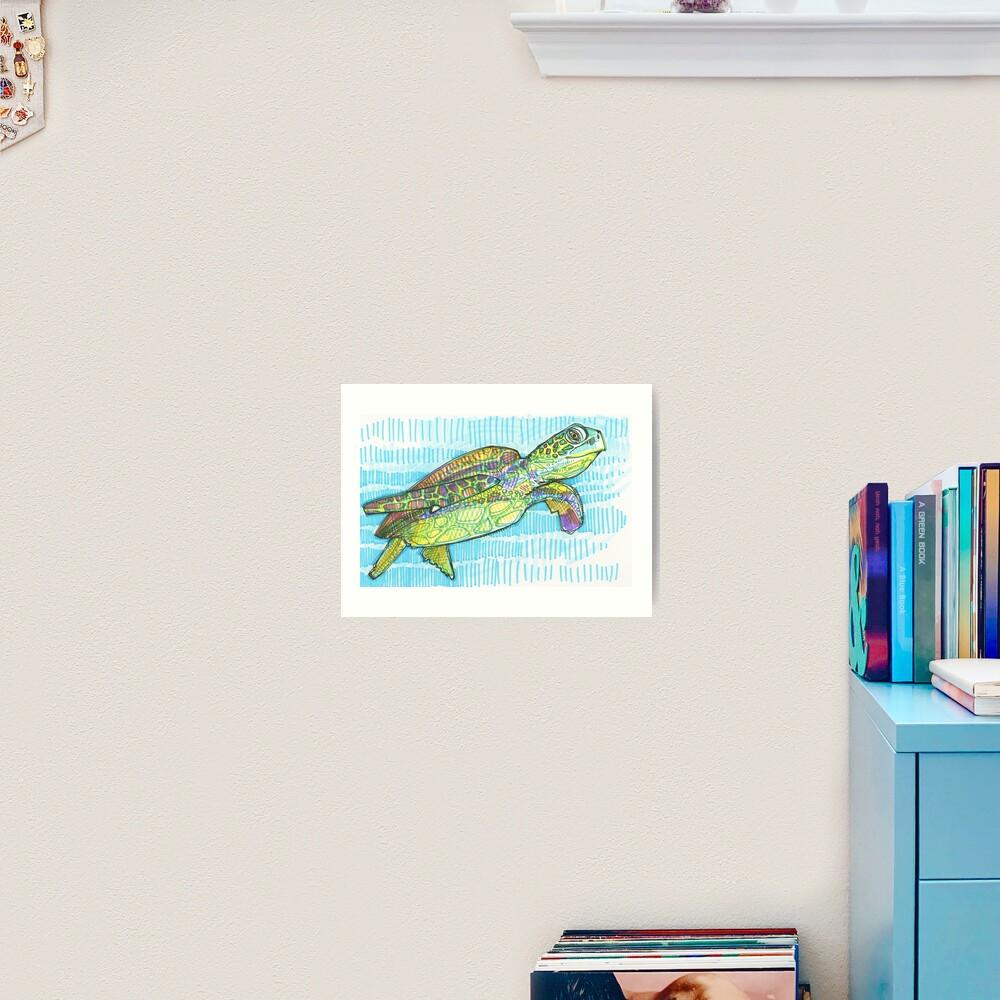 Sea Turtle Drawing - 2015 Art Print