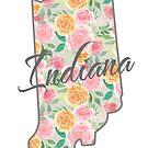 Indiana State | Blumenmuster mit Rosen von PraiseQuotes