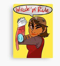 Verity - Wreck 'n' Rule Canvas Print