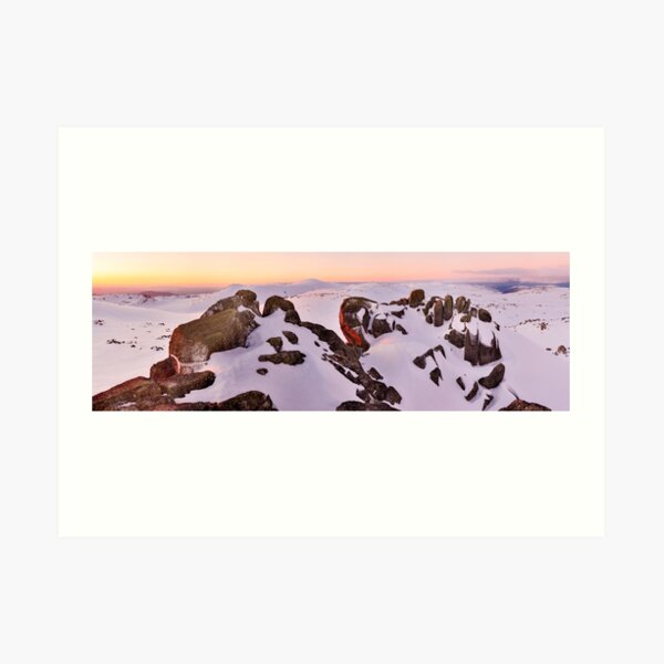 Summit from North Rams Head, Mt Kosciuszko, New South Wales, Australia Art Print