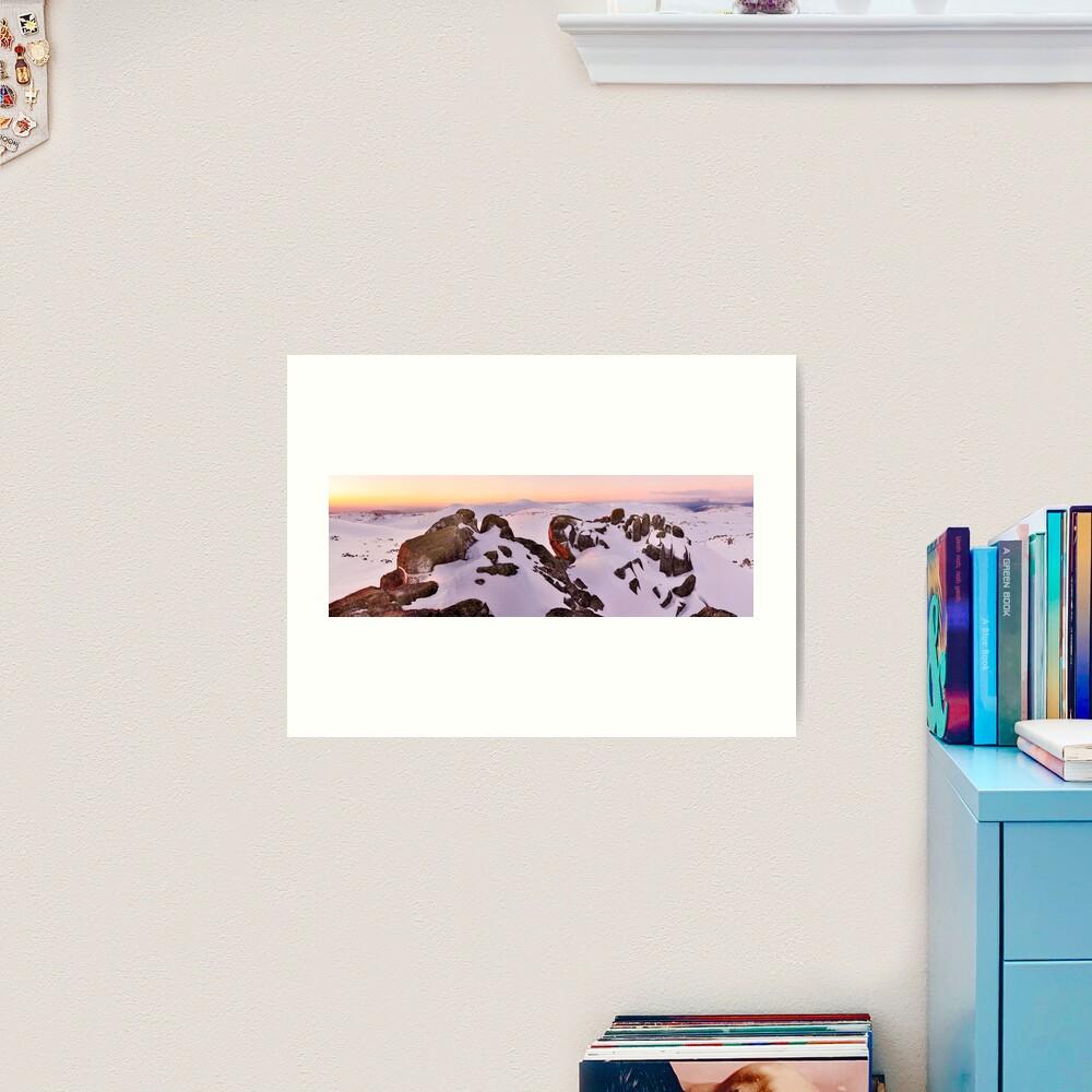 Summit from North Rams Head, Mt Kosciuszko, New South Wales, Australia Art Print