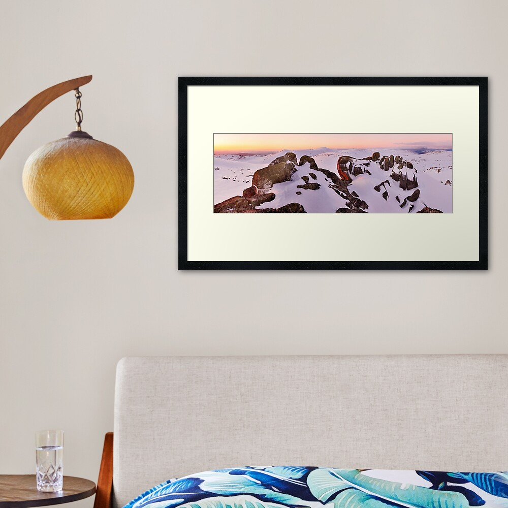 Summit from North Rams Head, Mt Kosciuszko, New South Wales, Australia Framed Art Print