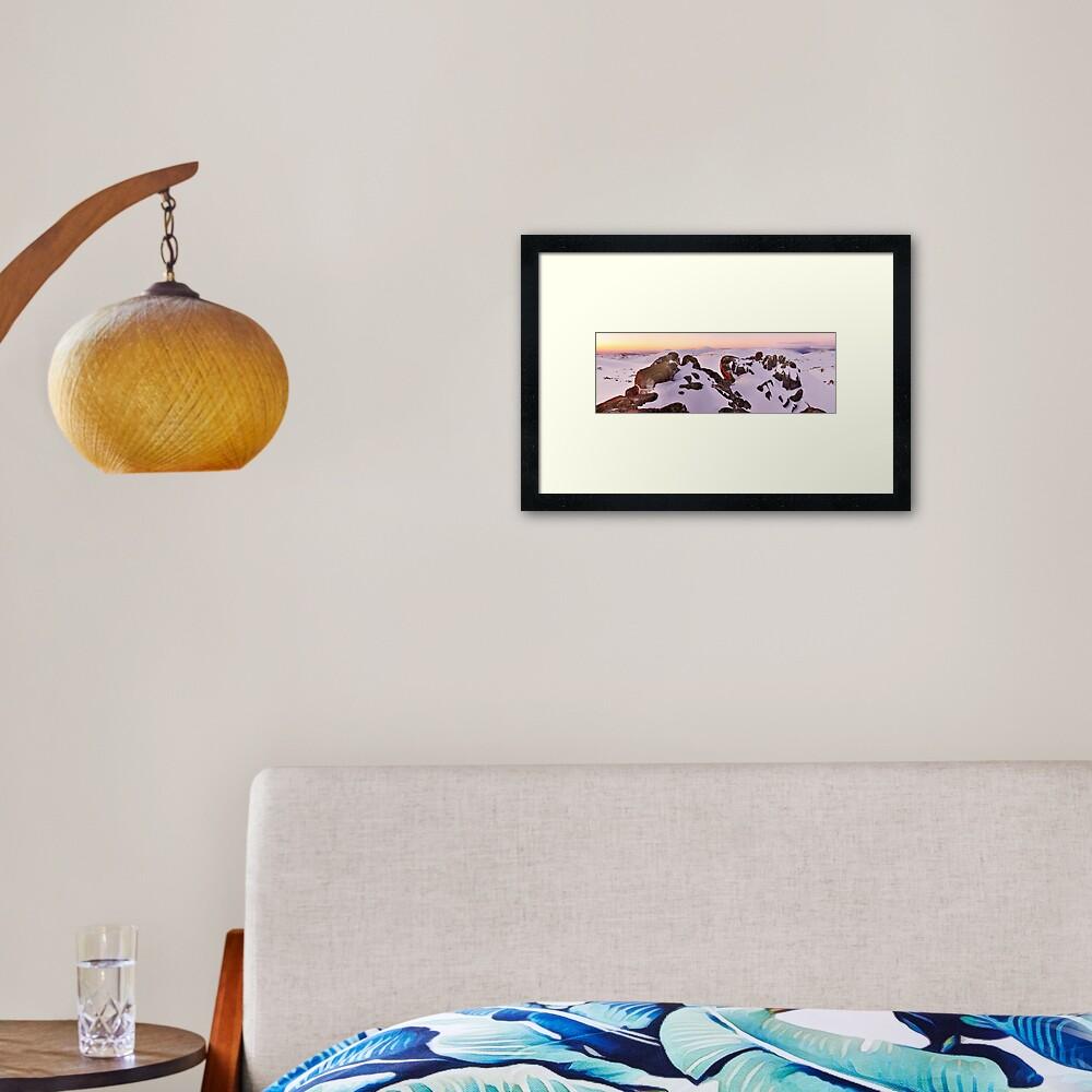 Summit from North Rams Head, Mt Kosciuszko, New South Wales, Australia Framed Art Print