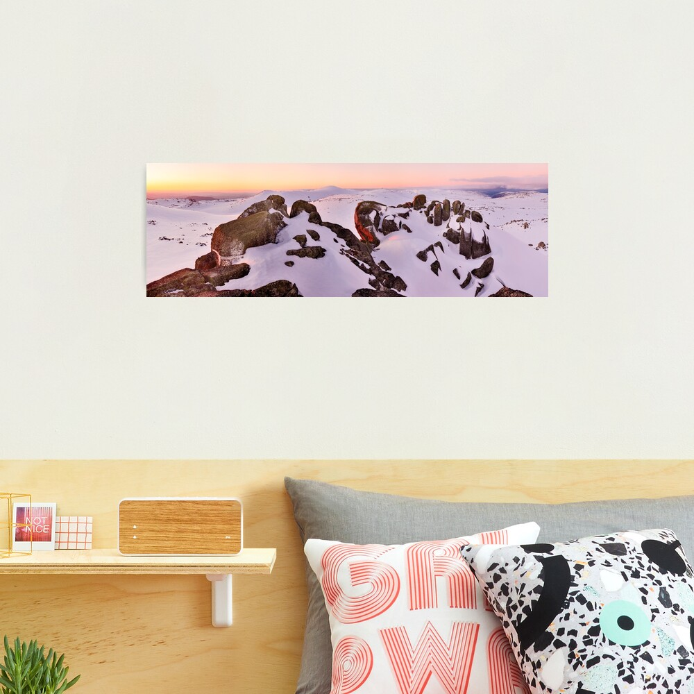 Summit from North Rams Head, Mt Kosciuszko, New South Wales, Australia Photographic Print