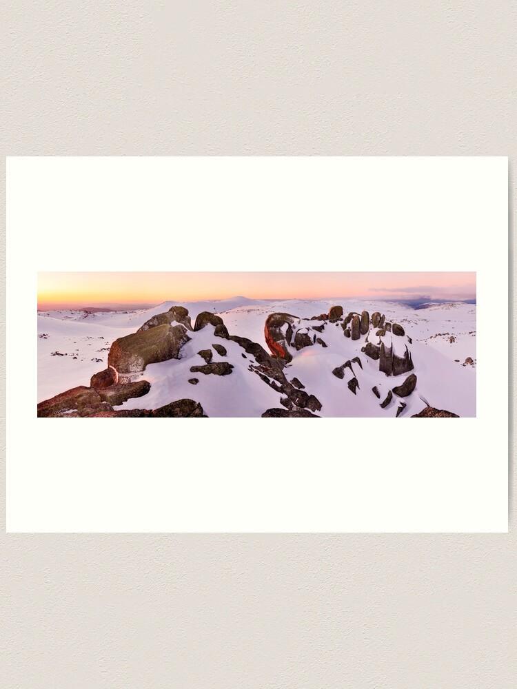 Alternate view of Summit from North Rams Head, Mt Kosciuszko, New South Wales, Australia Art Print