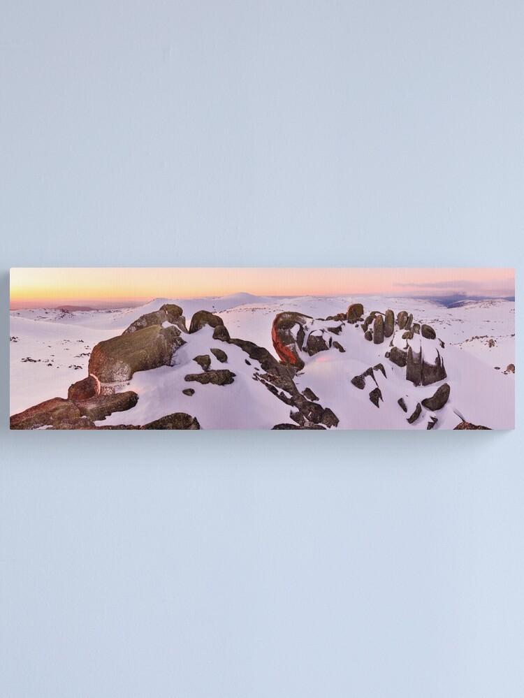 Alternate view of Summit from North Rams Head, Mt Kosciuszko, New South Wales, Australia Canvas Print