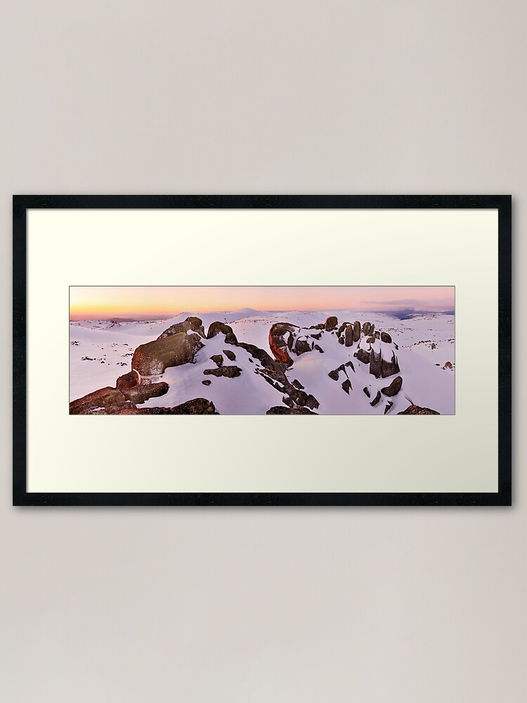 Alternate view of Summit from North Rams Head, Mt Kosciuszko, New South Wales, Australia Framed Art Print