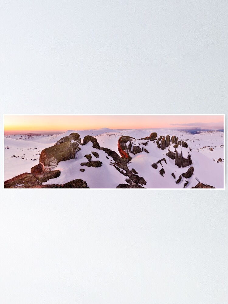 Alternate view of Summit from North Rams Head, Mt Kosciuszko, New South Wales, Australia Poster