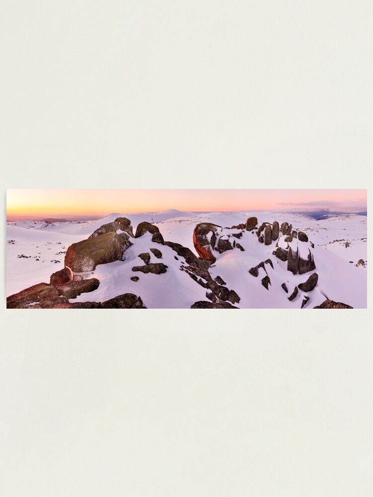 Alternate view of Summit from North Rams Head, Mt Kosciuszko, New South Wales, Australia Photographic Print