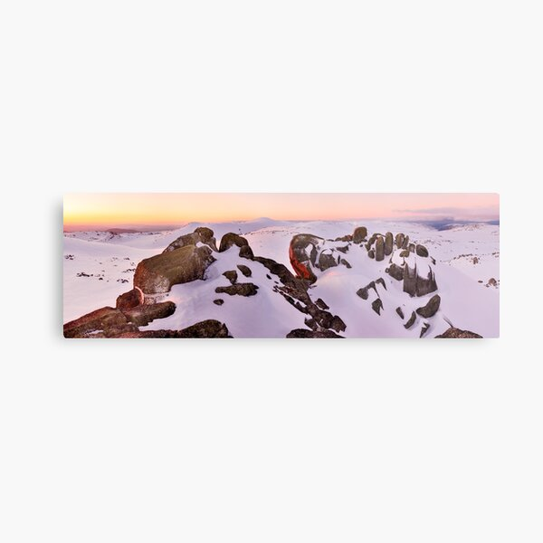 Summit from North Rams Head, Mt Kosciuszko, New South Wales, Australia Metal Print