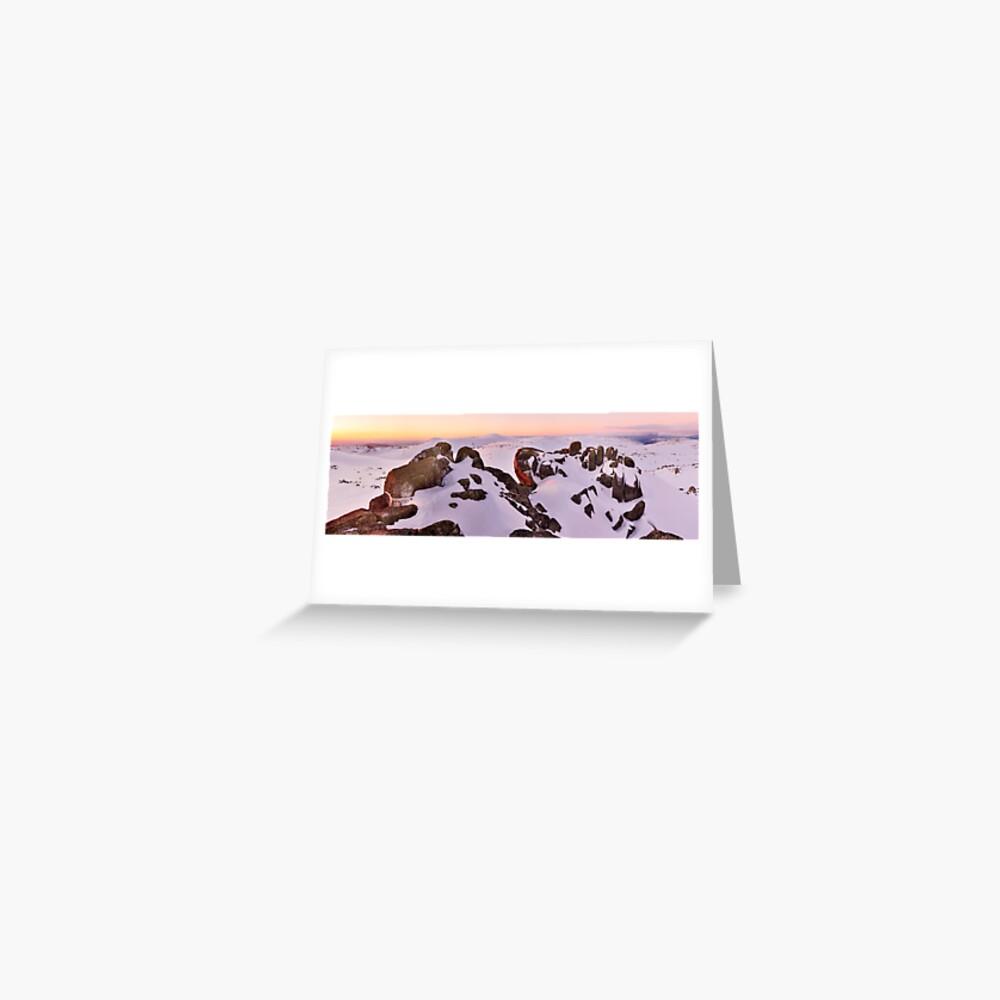 Summit from North Rams Head, Mt Kosciuszko, New South Wales, Australia Greeting Card