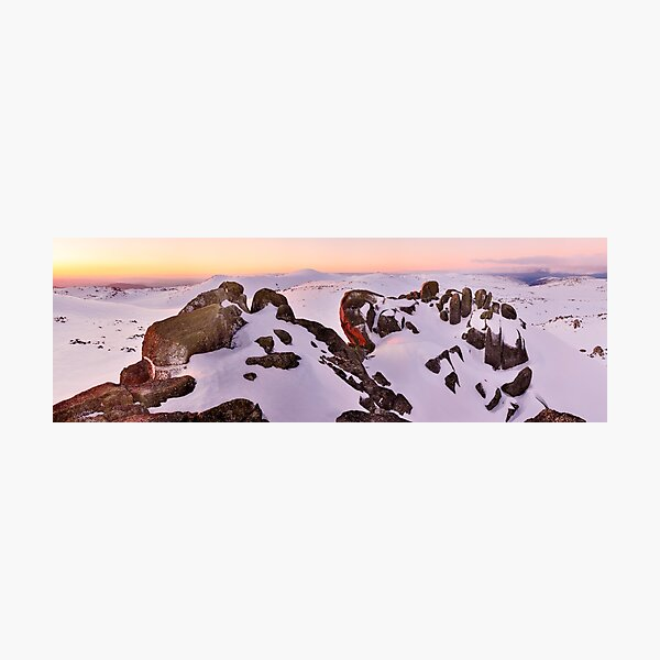 Summit from North Rams Head, Mt Kosciuszko, New South Wales, Australia Photographic Print