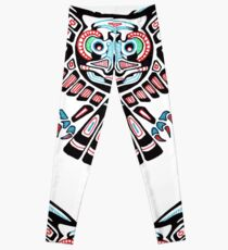 Mystic Owl in Native American Style art Leggings