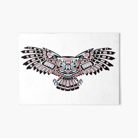 Mystic Owl in Native American Style art Art Board Print