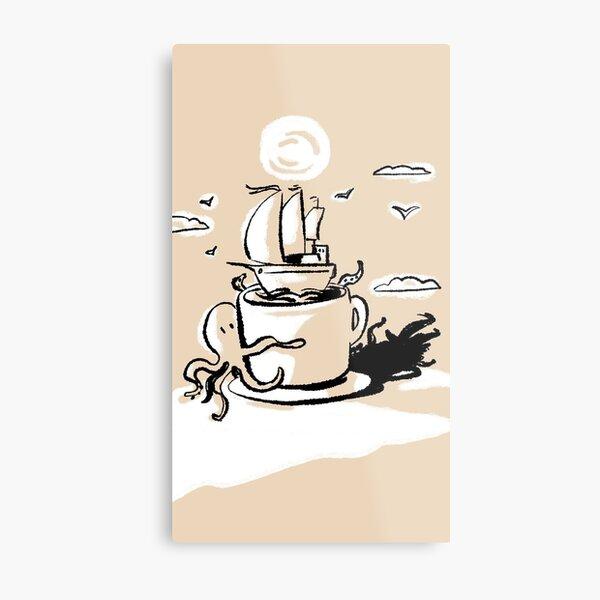 Adventurous Coffee Metal Print