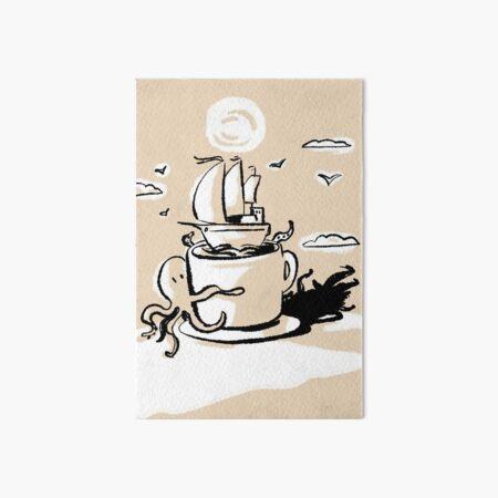 Adventurous Coffee Art Board Print