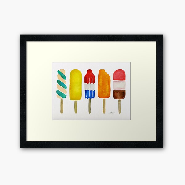 Popsicles Framed Art Print
