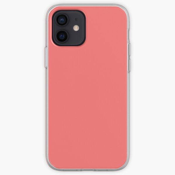 Coral Flat Color  iPhone Soft Case