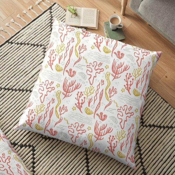 Coral & Seaweed Floor Pillow