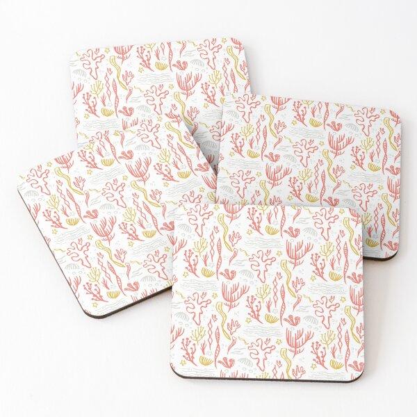 Coral & Seaweed Coasters (Set of 4)
