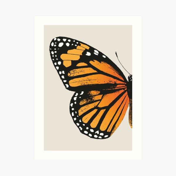 Monarch Butterfly | Left Wing | Vintage Butterflies | Butterfly Wings | Diptych |  Art Print