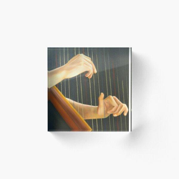 La joueuse de Harpe Bloc acrylique