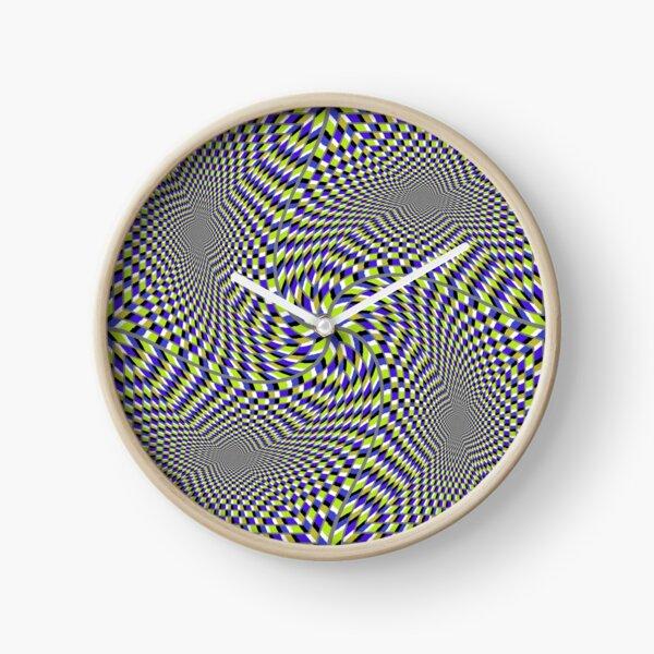 Optical #Art: Moving #Pattern #Illusion - #OpArt  Clock