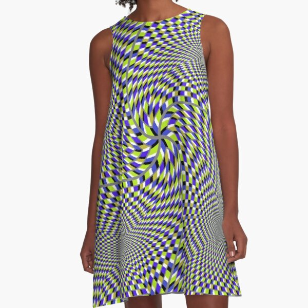 Optical #Art: Moving #Pattern #Illusion - #OpArt  A-Line Dress