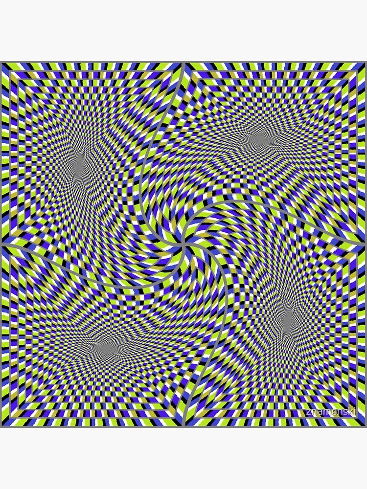 Optical #Art: Moving #Pattern #Illusion - #OpArt  by znamenski