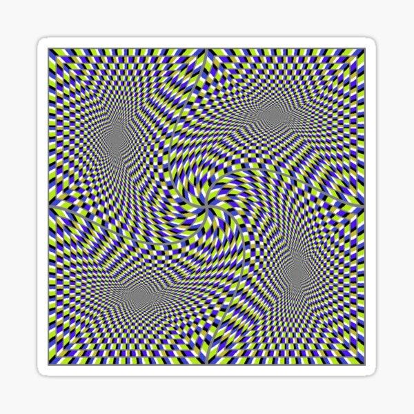 Optical #Art: Moving #Pattern #Illusion - #OpArt  Sticker