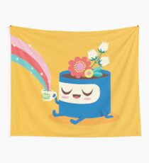 Flower Pot Head and Magic Tea Wall Tapestry