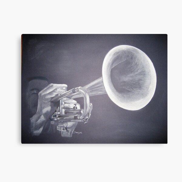 Le trompettiste Impression sur toile