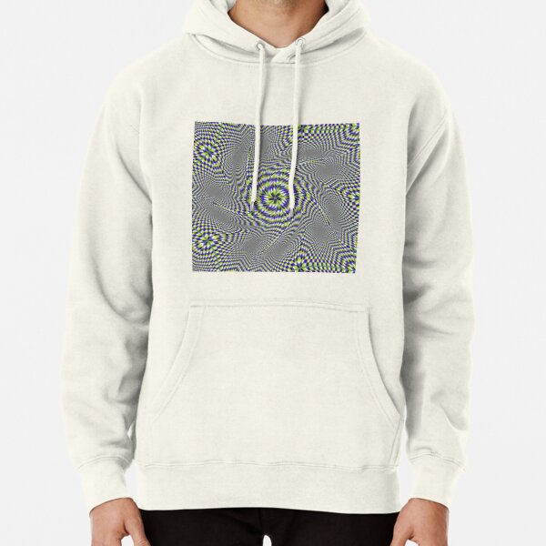 Optical #Art: Moving #Pattern #Illusion - #OpArt  Pullover Hoodie