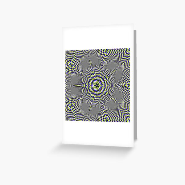 Optical #Art: Moving #Pattern #Illusion - #OpArt  Greeting Card