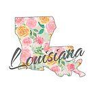 Louisiana State | Blumenmuster mit Rosen von PraiseQuotes