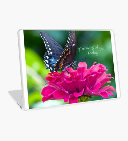 Thinking of you Today Card Laptop Skin
