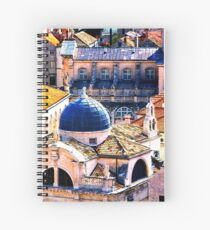 The Essence of Croatia - Red Terracotta Rooftops of Dubrovnik Spiral Notebook