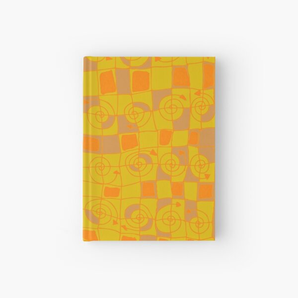 Geometric in Yellow and Orange Hardcover Journal